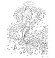 graphic mermaid under the ocean surface vector image