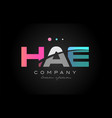 hae h a e three letter logo icon design vector image vector image