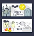 halloween banner vector image vector image