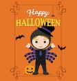 halloween poster spidergirl vector image