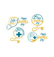 happy doctors day template set vector image vector image