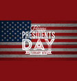 happy presidents day of the usa vector image