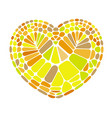 heart from color bricks tiles icon cartoon style vector image vector image