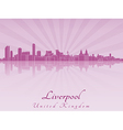 Liverpool skyline in purple radiant orchid vector image vector image