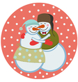 love snowmen vector image vector image