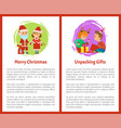 merry christmas wishes santa claus and snow maiden vector image vector image