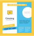 message not sent company brochure template vector image