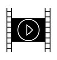 movie icon black sign on vector image vector image