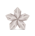 Origami flower isolated on white vector image