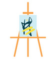 painting stand easel with abstract painting color vector image