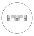 piano keys icon black color in circle vector image vector image