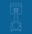 piston on blueprint vector image