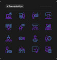 presentation thin line icons set vector image vector image
