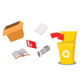 recycling paper vector image vector image