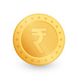 rupee gold coin isolated on white background vector image