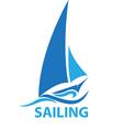 Sailing vector image vector image