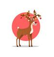 santas reindeer vector image