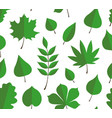 seamless pattern with green autumn leaves vector image vector image