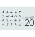 Set of career ladder icons vector image