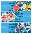 Set of Horizontal Banners about lifeguard vector image vector image