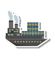 ship boat with barrels oil vector image vector image