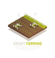 smart agriculture concept vector image vector image