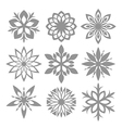 Snowflake Icon set Isolated on white vector image vector image