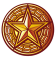 star badge vector image vector image