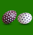 two dotted easter eggs vector image vector image