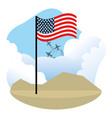 united states flag design vector image