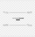 vintage flat style calligraphic frame banner vector image vector image