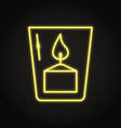 votive candle icon in neon line style vector image