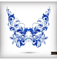 Watercolor blue butterfly vector image vector image