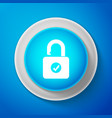 white open padlock and check mark icon isolated vector image vector image