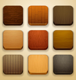 wood background for the app icons vector image vector image