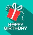 Happy Birthday Retro with Gift Box vector image