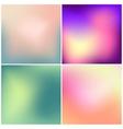 Set of 4 blurred backgrounds vector image