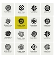 Ethnic logo set for your design vector image