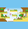 2d tileset platform game 32 vector image vector image