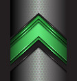abstract green black line arrow on hexagon mesh vector image vector image