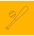 Baseball line icon vector image vector image