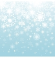 Beautiful Snowflakes in Seamless Pattern Design vector image