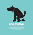 Black Symbol Dog Poop vector image