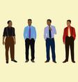 black teen boys dressed up vector image vector image