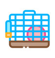 cage for hamster icon outline vector image