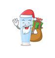 cartoon design eye cream santa having vector image vector image