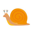 cartoon snail on white background vector image vector image
