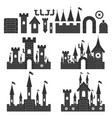 castle constructor simple set vector image vector image
