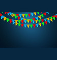 celebration carnival party background with flags vector image vector image