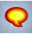 Chat bubble symbol on light grey paper background vector image vector image
